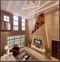 东莞虎门国际公馆小区180平米混搭风格-样板图